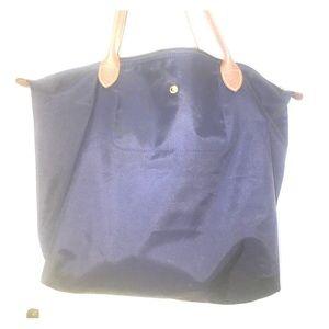Long champ blue purse